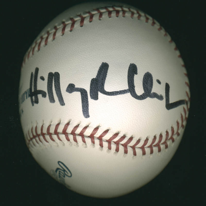 Image 3 for President William J. 'Bill' Clinton - Autographed Signed Baseball co-signed by: First Lady Hillary Rodham Clinton - HFSID 278480