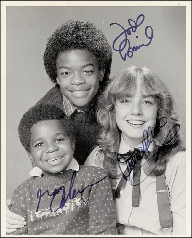 Image 1 for Diff'Rent Strokes TV Cast - Autographed Signed Photograph co-signed by: Gary Coleman, Todd Bridges, Dana Plato - HFSID 278545