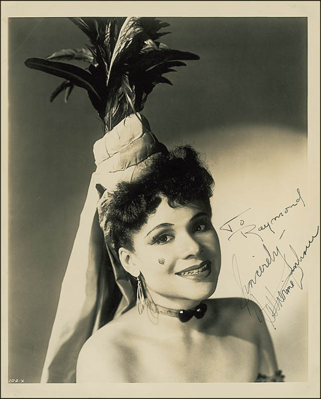 Image 1 for Katherine Dunham - Autographed Inscribed Photograph - HFSID 278546