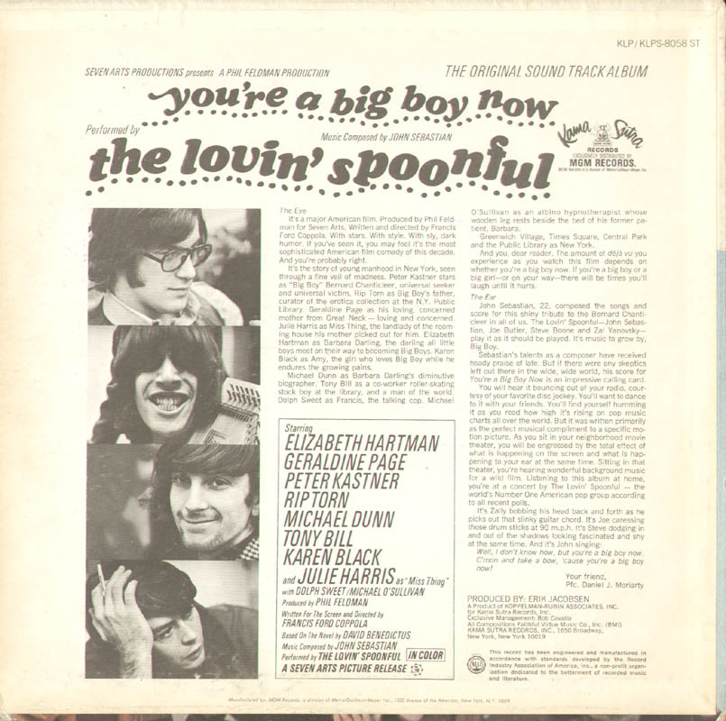 Image 3 for Lovin' Spoonful - Record Album Cover Signed with co-signers - HFSID 278598