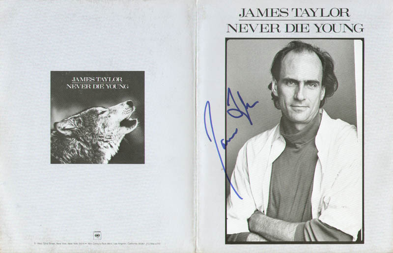 Image 1 for James Taylor - Advertisement Signed - HFSID 278603