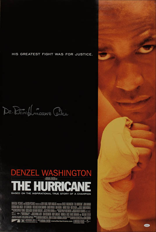 Image 1 for Rubin 'Hurricane' Carter - Autographed Signed Poster - HFSID 278609