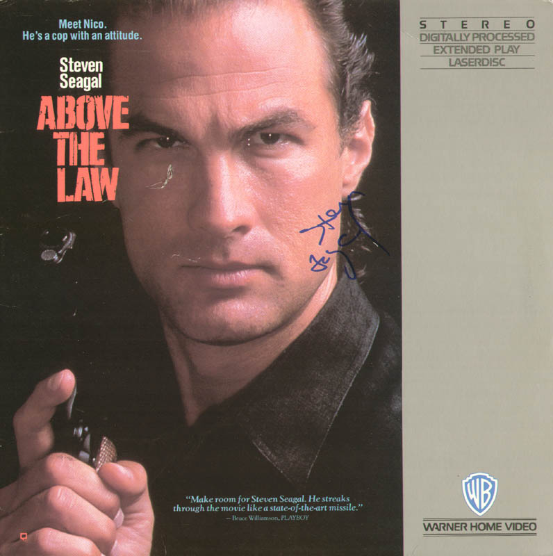Image 1 for Steven Seagal - Laser Media Cover Signed - HFSID 278616