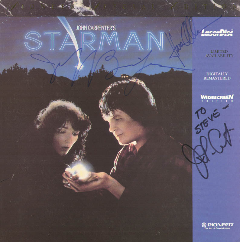 Image 1 for Starman Movie Cast - Laser Media Cover Signed co-signed by: Jeff Bridges, Karen Allen, John Carpenter - HFSID 278633