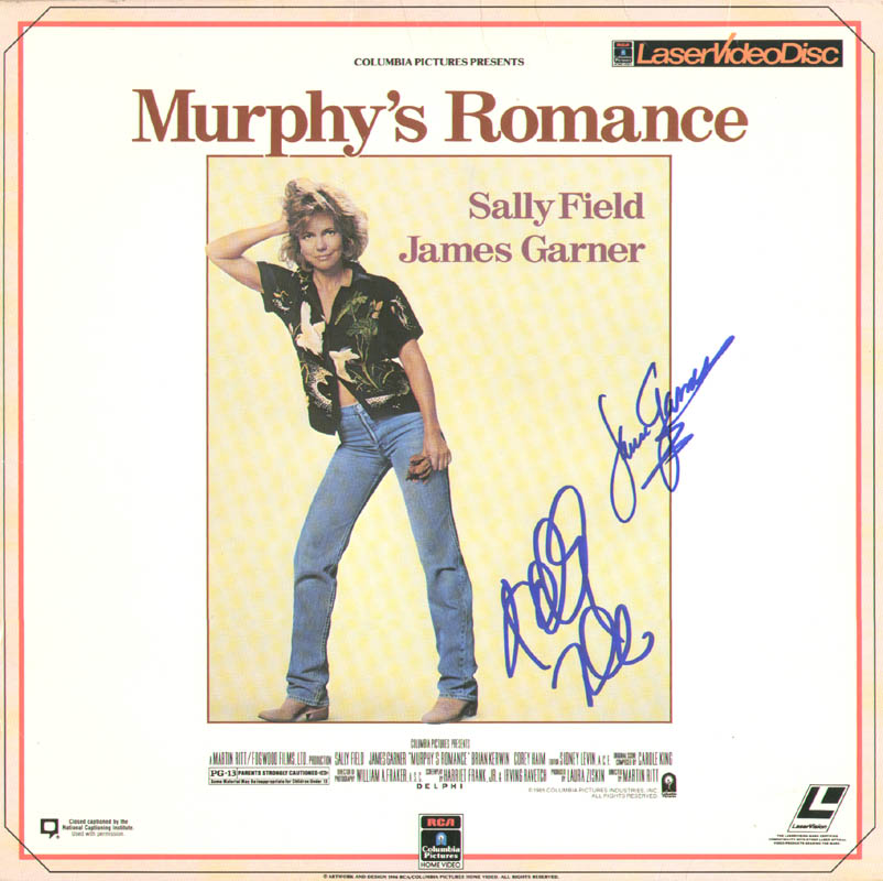 Image 1 for Murphy'S Romance Movie Cast - Laser Media Cover Signed co-signed by: James Garner, Sally Field - HFSID 278744