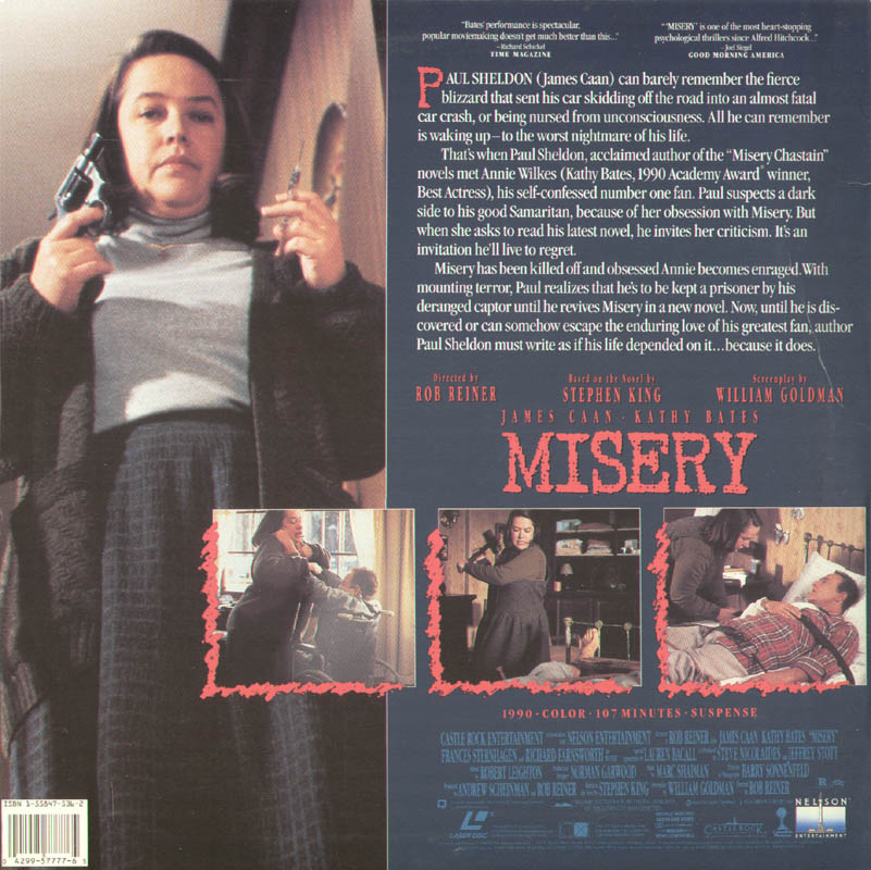 Image 3 for Misery Movie Cast - Laser Media Cover Signed co-signed by: Kathy Bates, James Caan - HFSID 278768