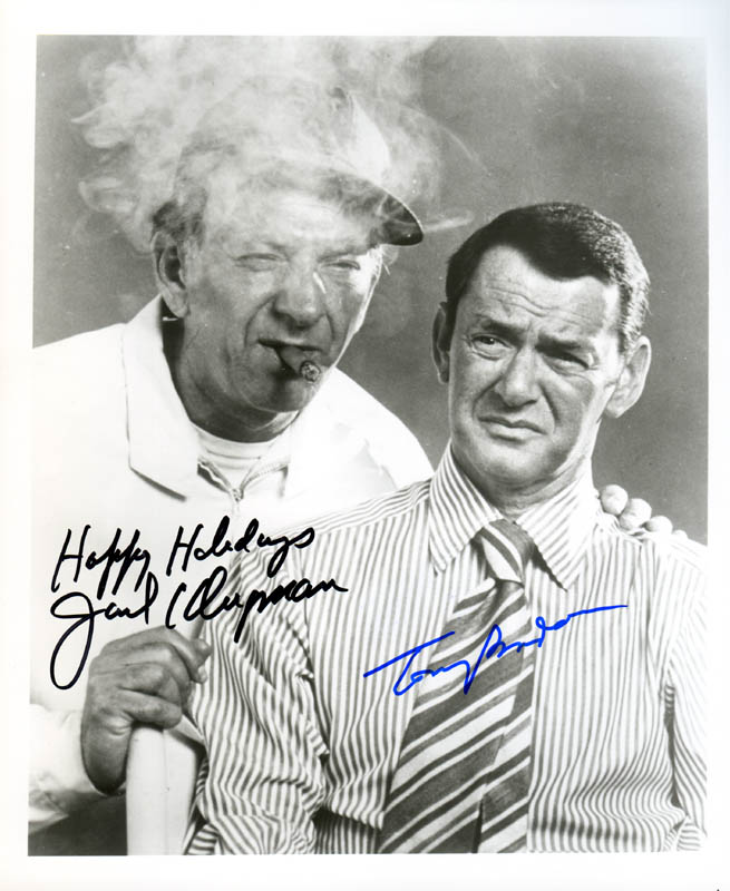 Image 1 for The Odd Couple TV Cast - Autographed Signed Photograph co-signed by: Jack Klugman, Tony Randall - HFSID 278802