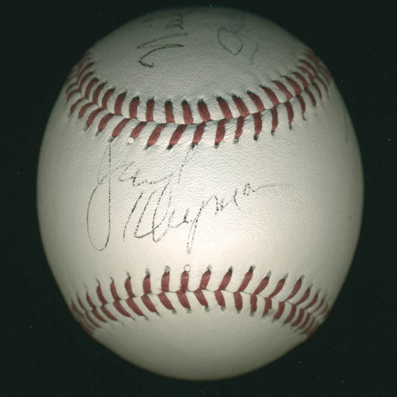 Image 1 for The Odd Couple TV Cast - Autographed Signed Baseball 01/19/1997 co-signed by: Neil 'Doc' Simon, Garry Marshall, Jack Klugman, Tony Randall - HFSID 278896