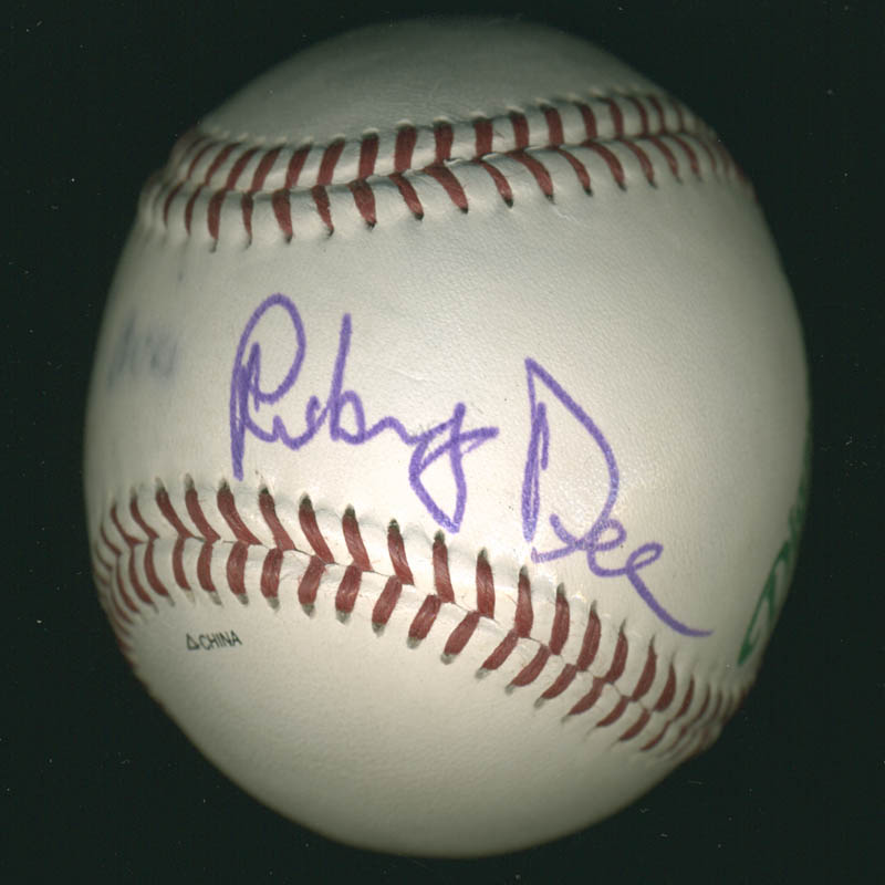 Image 1 for Ruby Dee - Autographed Signed Baseball co-signed by: Ossie Davis - HFSID 278911