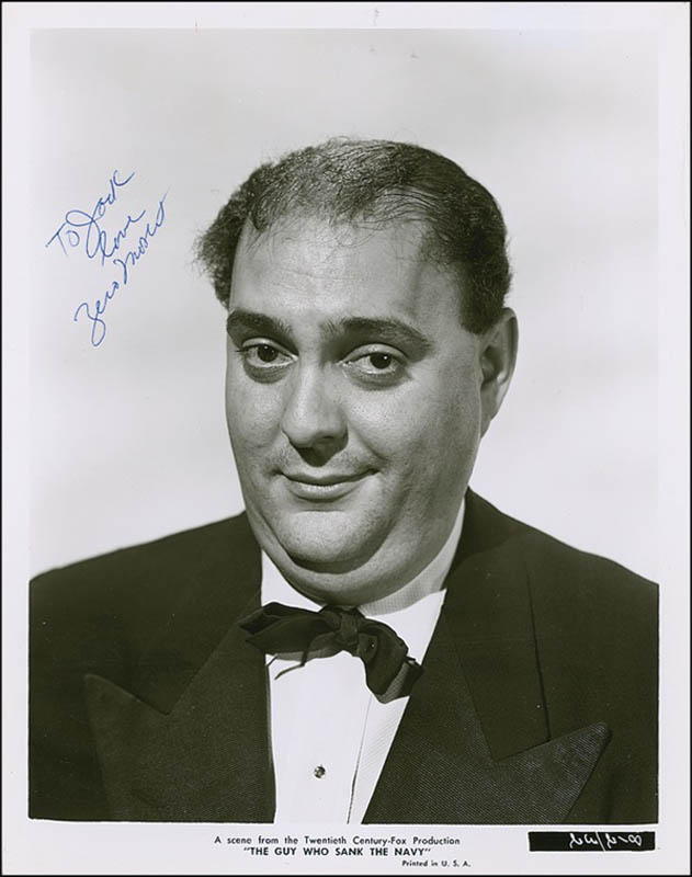 Image 1 for Zero Mostel - Autographed Inscribed Photograph - HFSID 278937