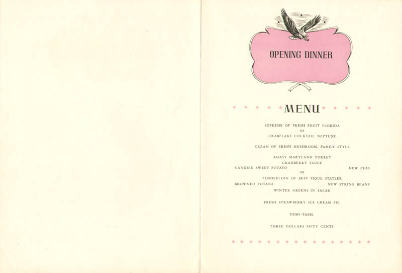 Image 3 for James Cagney - Menu Signed co-signed by: Lawrence Tibbett, Fred Waring, Cecilia Louise - HFSID 278971