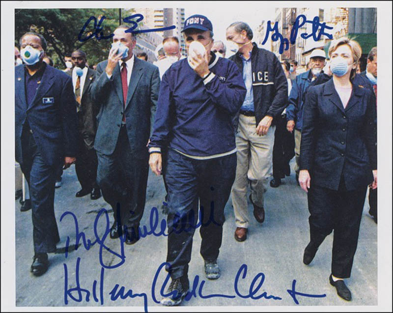 Image 1 for Mayor Rudolph 'Rudy' Giuliani - Autographed Signed Photograph with co-signers - HFSID 278987