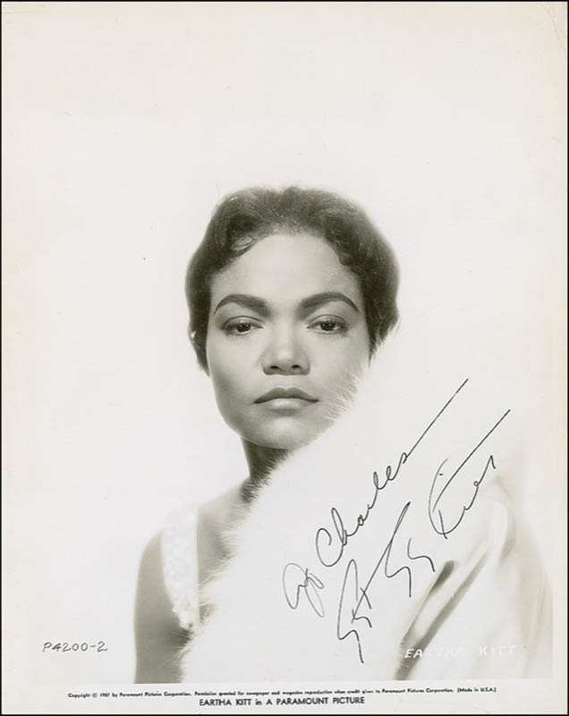 Image 1 for Eartha Kitt - Autographed Inscribed Photograph - HFSID 278997