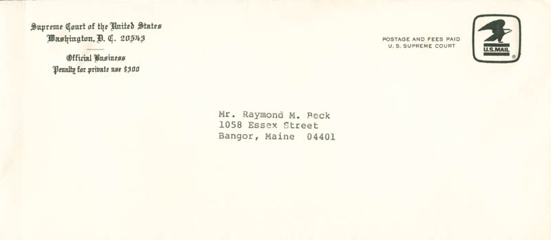 Image 3 for Associate Justice Sandra Day O'Connor - Typed Letter Signed 09/30/1982 - HFSID 279002