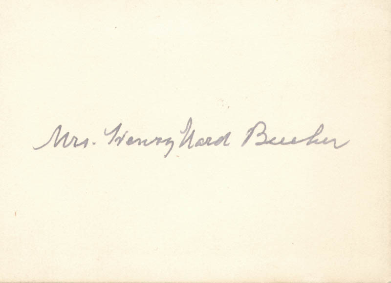 Image 1 for Eunice (Mrs. Henry Ward) Beecher - Autograph - HFSID 27907