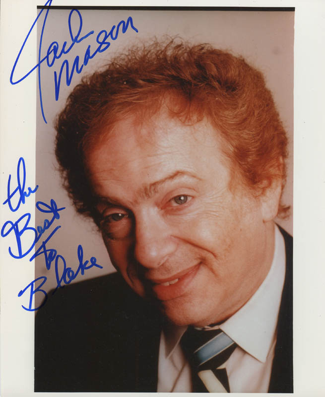 Image 1 for Jackie Mason - Autographed Inscribed Photograph - HFSID 279071