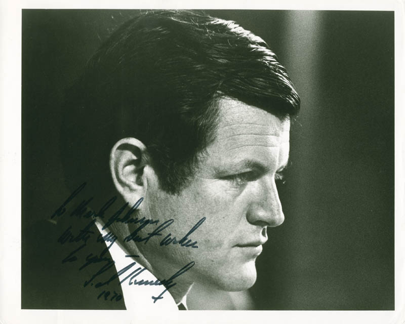 Image 1 for Edward 'Ted' Kennedy - Autographed Inscribed Photograph 1970 - HFSID 279101