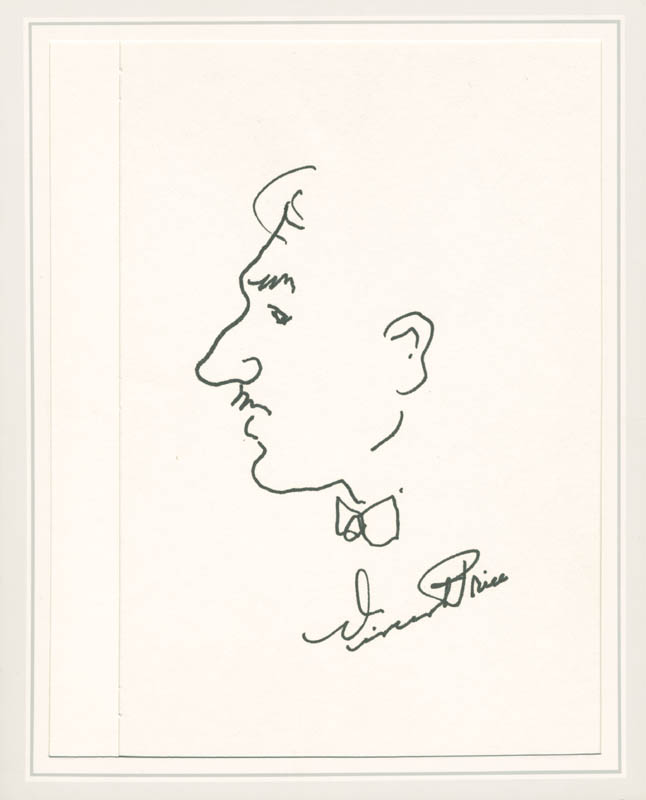 Image 1 for Vincent Price - Self-caricature Signed - HFSID 279128