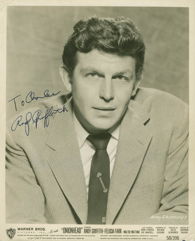 Image 1 for Andy Griffith - Autographed Inscribed Photograph - HFSID 279132