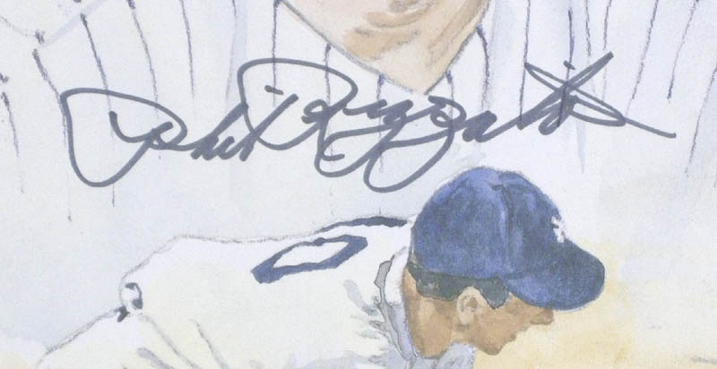 Image 3 for Phil Rizzuto - Printed Art Signed In Ink co-signed by: James M. Amore - HFSID 279262