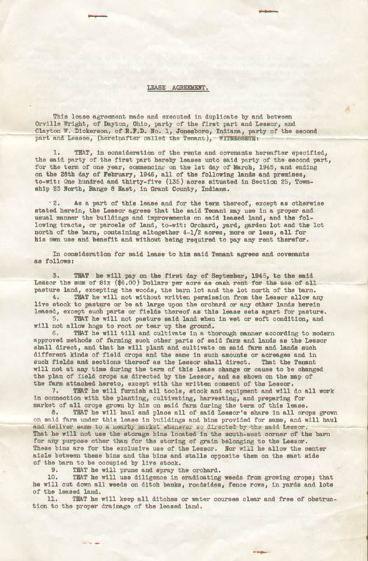Image 3 for Orville Wright - Document Signed 02/06/1945 - HFSID 279312