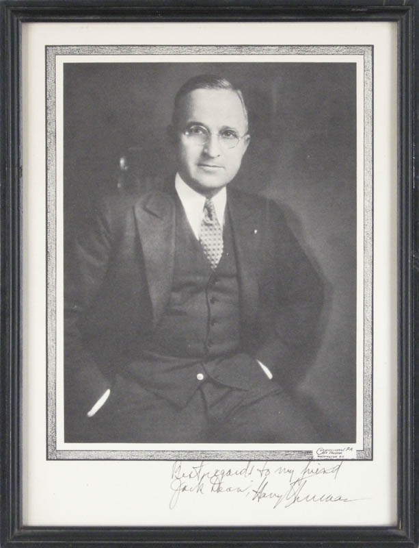 Image 1 for President Harry S Truman - Autographed Inscribed Photograph - HFSID 279319