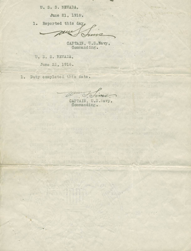 Image 3 for President Franklin D. Roosevelt - Typed Letter Signed 06/19/1916 co-signed by: Admiral William S. Sims - HFSID 279322
