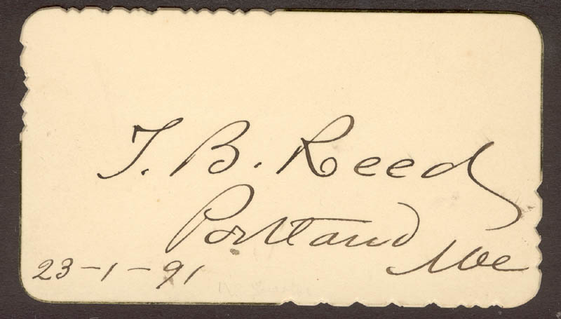 Image 1 for Thomas B. Reed - Autograph 01/23/1891 - HFSID 27944