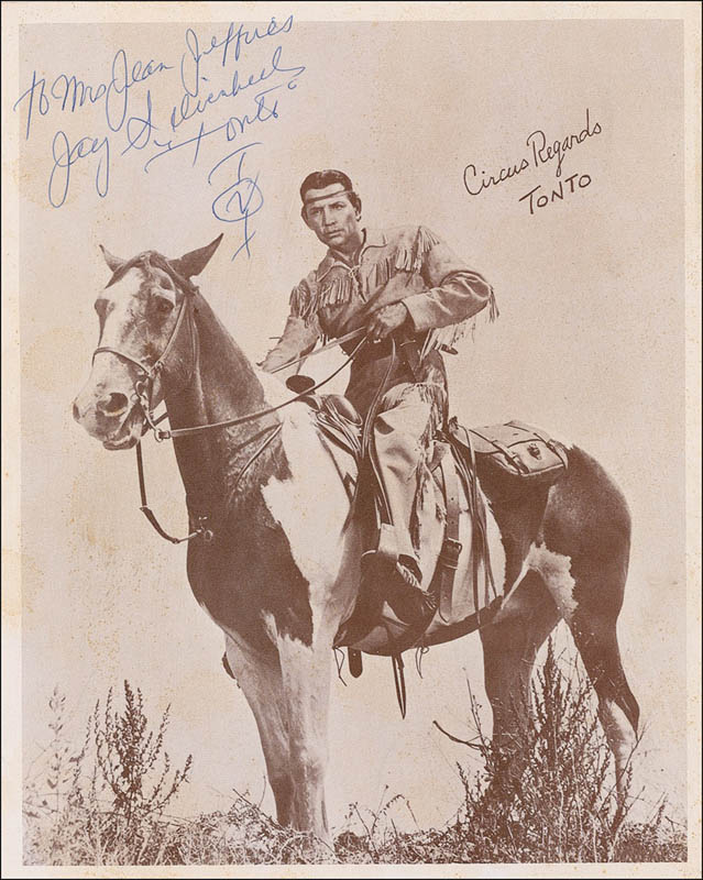 Image 1 for Jay 'Tonto' Silverheels - Autographed Inscribed Photograph - HFSID 279449