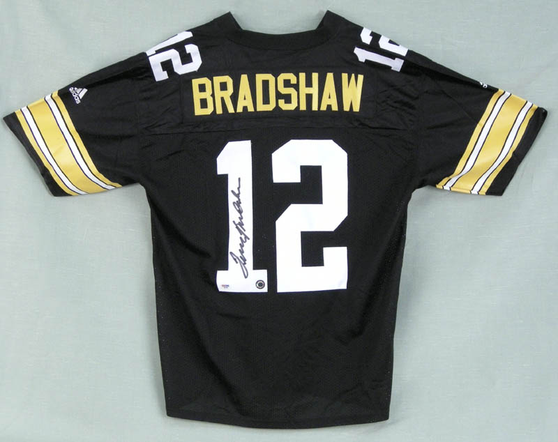 9cf0a0892 TERRY BRADSHAW - JERSEY SIGNED - HFSID 279450. TERRY BRADSHAW Large Adidas  replica Pittsburgh Steelers ...