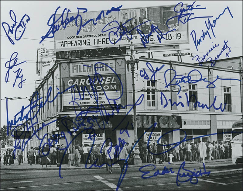Image 1 for Fillmore West - Autographed Signed Photograph with co-signers - HFSID 279477