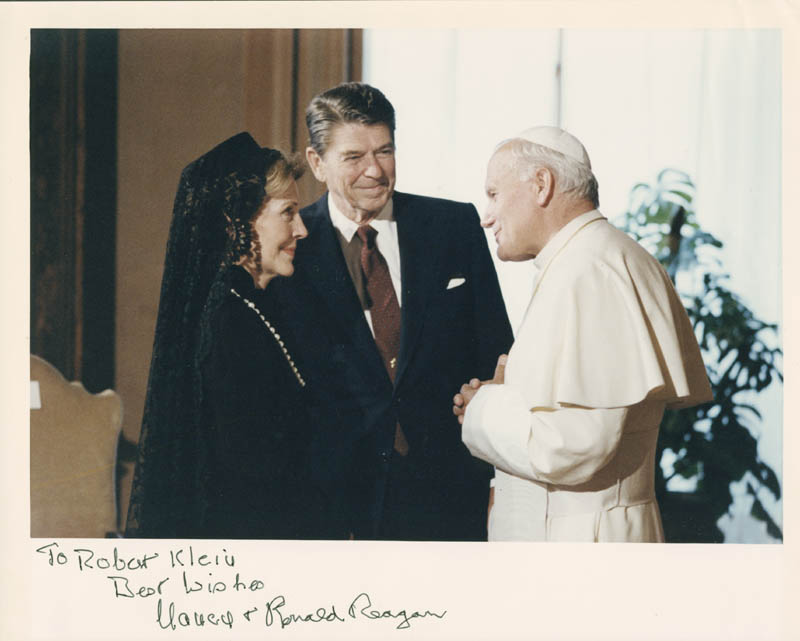 Image 1 for President Ronald Reagan - Autographed Inscribed Photograph co-signed by: First Lady Nancy Davis Reagan - HFSID 279512