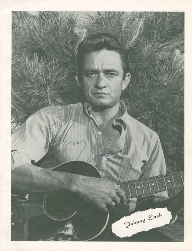 Image 1 for Johnny Cash - Program Signed co-signed by: June Carter Cash - HFSID 279516