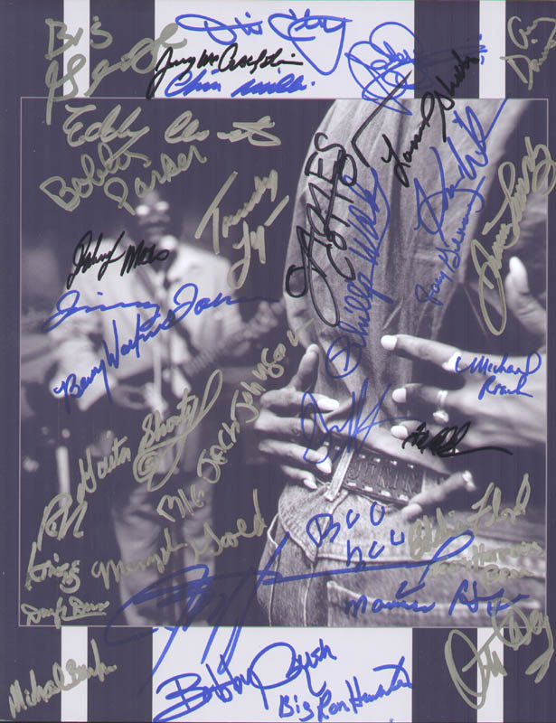 Image 1 for James Cotton - Autographed Signed Photograph with co-signers - HFSID 279551