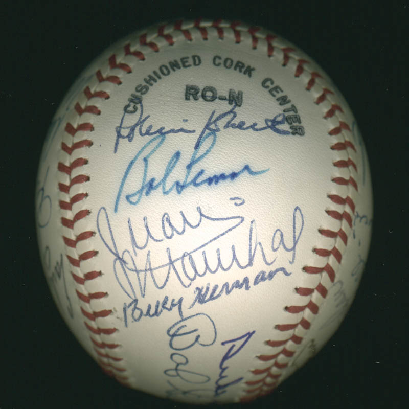 Image 4 for Hall Of Fame Baseball - Autographed Signed Baseball with co-signers - HFSID 279559