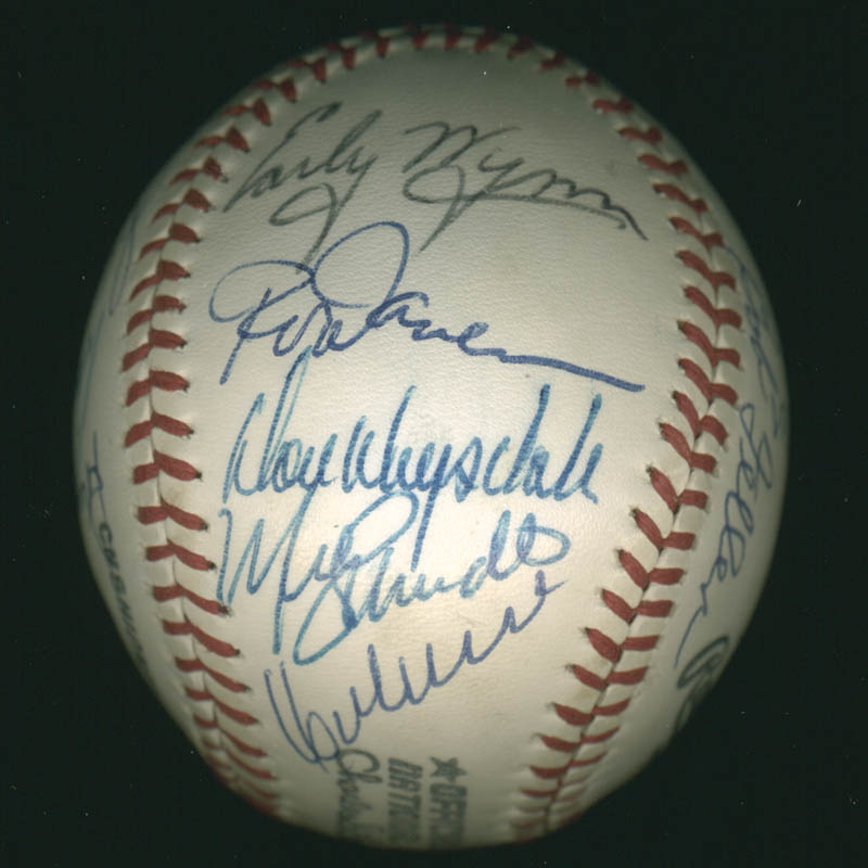 Image 6 for Hall Of Fame Baseball - Autographed Signed Baseball with co-signers - HFSID 279559