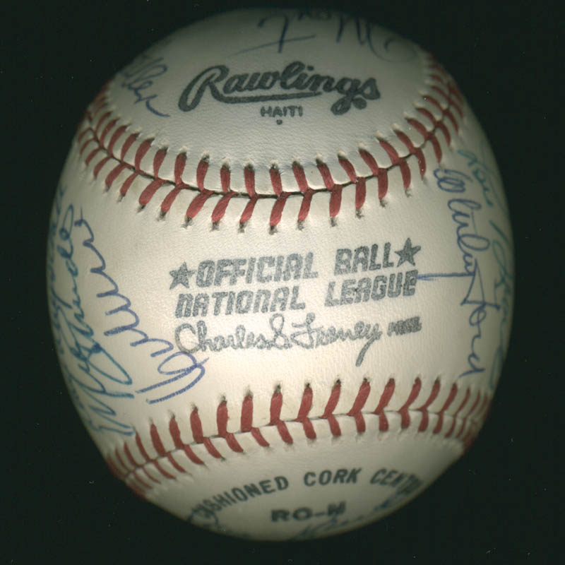 Image 7 for Hall Of Fame Baseball - Autographed Signed Baseball with co-signers - HFSID 279559