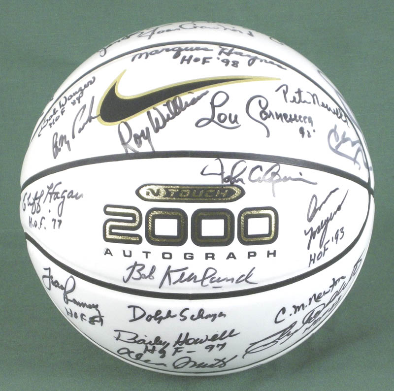 Image 1 for Hall Of Fame Basketball - Basketball Signed with co-signers - HFSID 279560