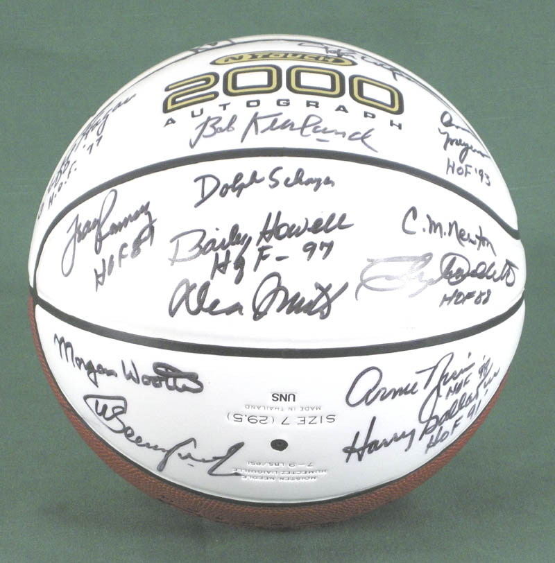 Image 3 for Hall Of Fame Basketball - Basketball Signed with co-signers - HFSID 279560