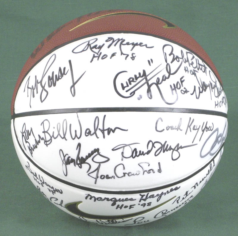 Image 5 for Hall Of Fame Basketball - Basketball Signed with co-signers - HFSID 279560