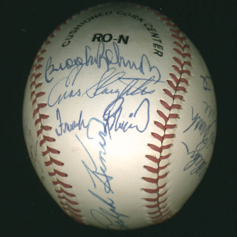 Image 3 for Hall Of Fame Baseball - Autographed Signed Baseball with co-signers - HFSID 279561