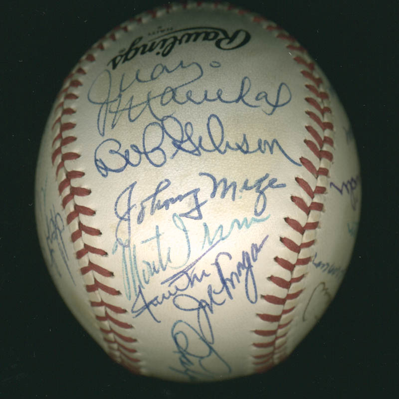 Image 4 for Hall Of Fame Baseball - Autographed Signed Baseball with co-signers - HFSID 279561