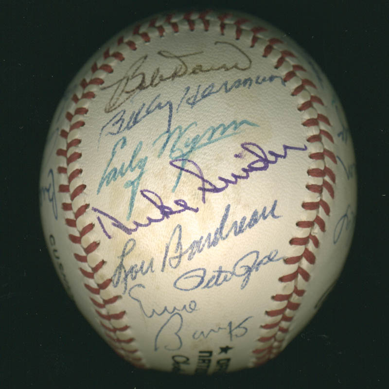 Image 6 for Hall Of Fame Baseball - Autographed Signed Baseball with co-signers - HFSID 279561