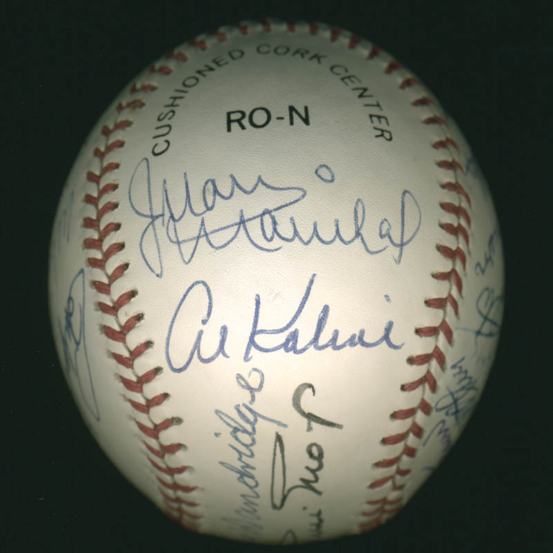 Image 3 for Hall Of Fame Baseball - Autographed Signed Baseball with co-signers - HFSID 279563