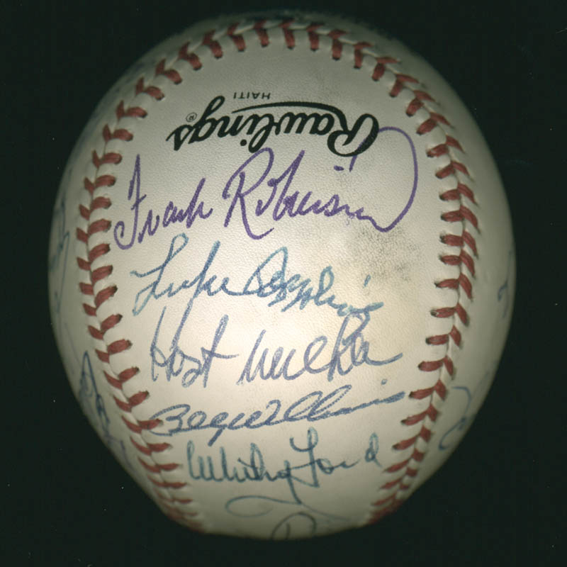 Image 4 for Hall Of Fame Baseball - Autographed Signed Baseball with co-signers - HFSID 279563