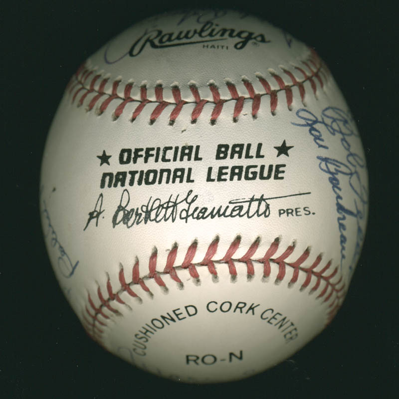 Image 7 for Hall Of Fame Baseball - Autographed Signed Baseball with co-signers - HFSID 279563