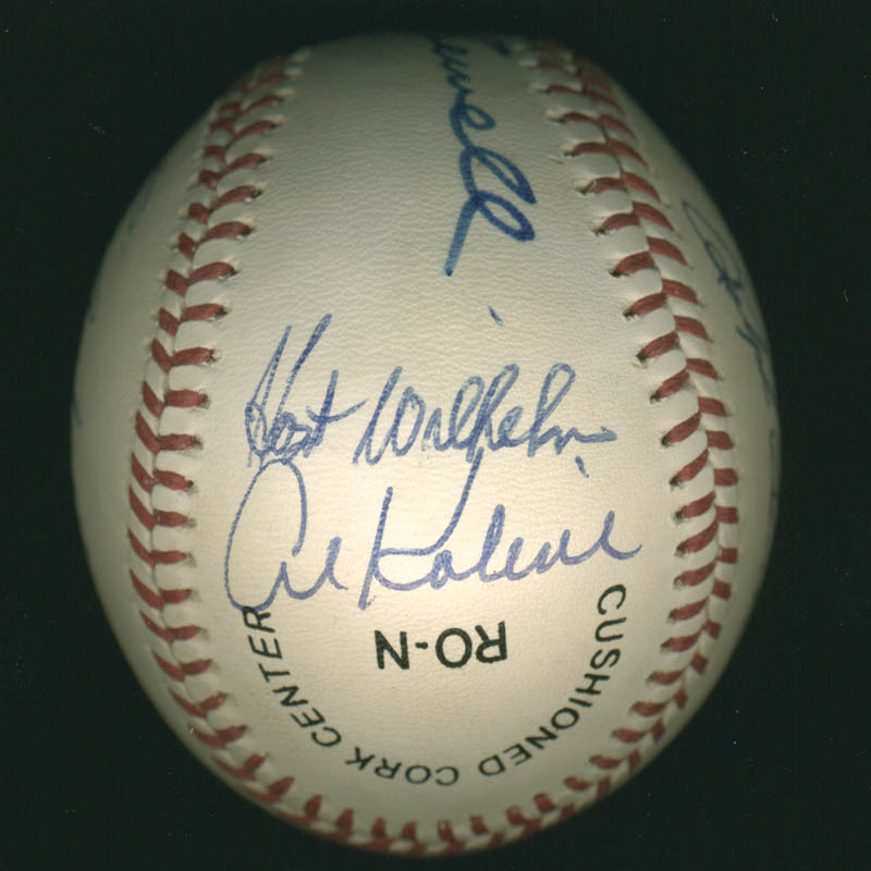 Image 3 for Hall Of Fame Baseball - Autographed Signed Baseball with co-signers - HFSID 279564