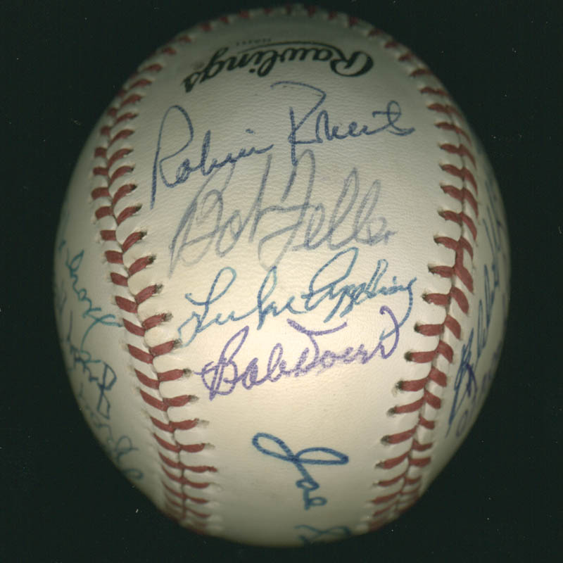 Image 4 for Hall Of Fame Baseball - Autographed Signed Baseball with co-signers - HFSID 279564