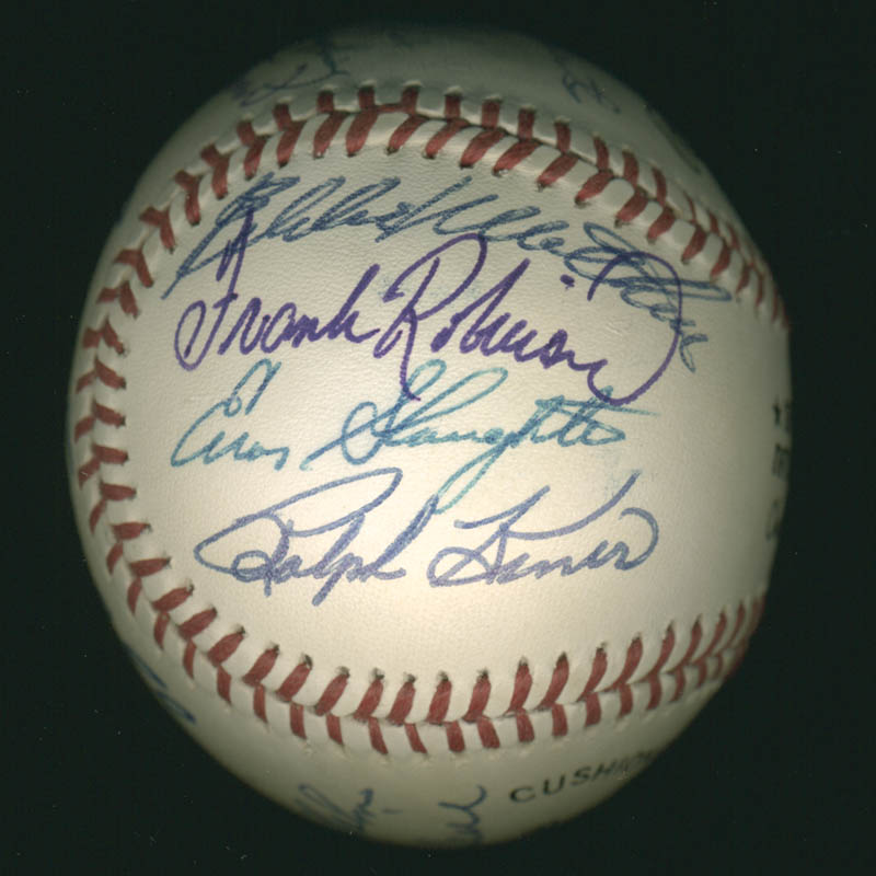 Image 6 for Hall Of Fame Baseball - Autographed Signed Baseball with co-signers - HFSID 279564