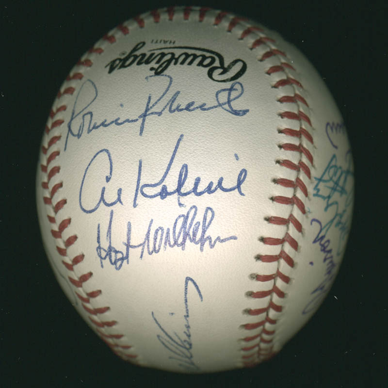 Image 3 for Hall Of Fame Baseball - Autographed Signed Baseball with co-signers - HFSID 279566